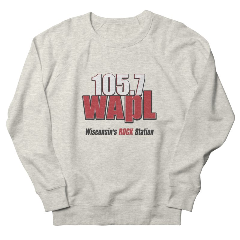 WAPL Stacked Logo (black lettering) Men's French Terry Sweatshirt by 105.7 WAPL Web Store