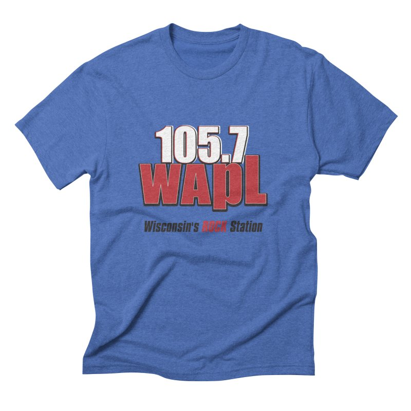 WAPL Stacked Logo (black lettering) Men's Triblend T-Shirt by 105.7 WAPL Web Store