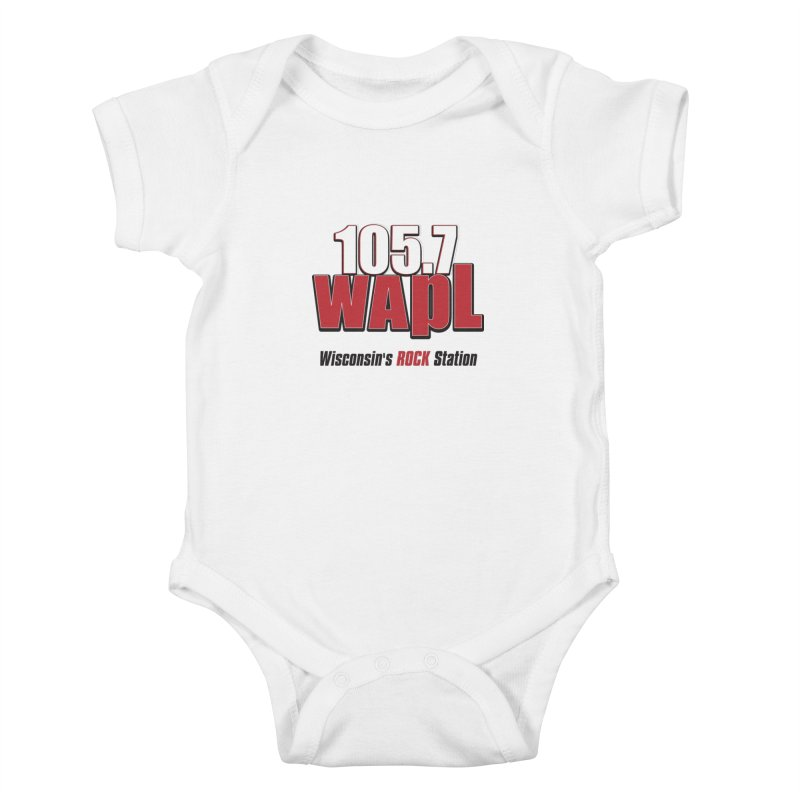 WAPL Stacked Logo (black lettering) Kids Baby Bodysuit by 105.7 WAPL Web Store