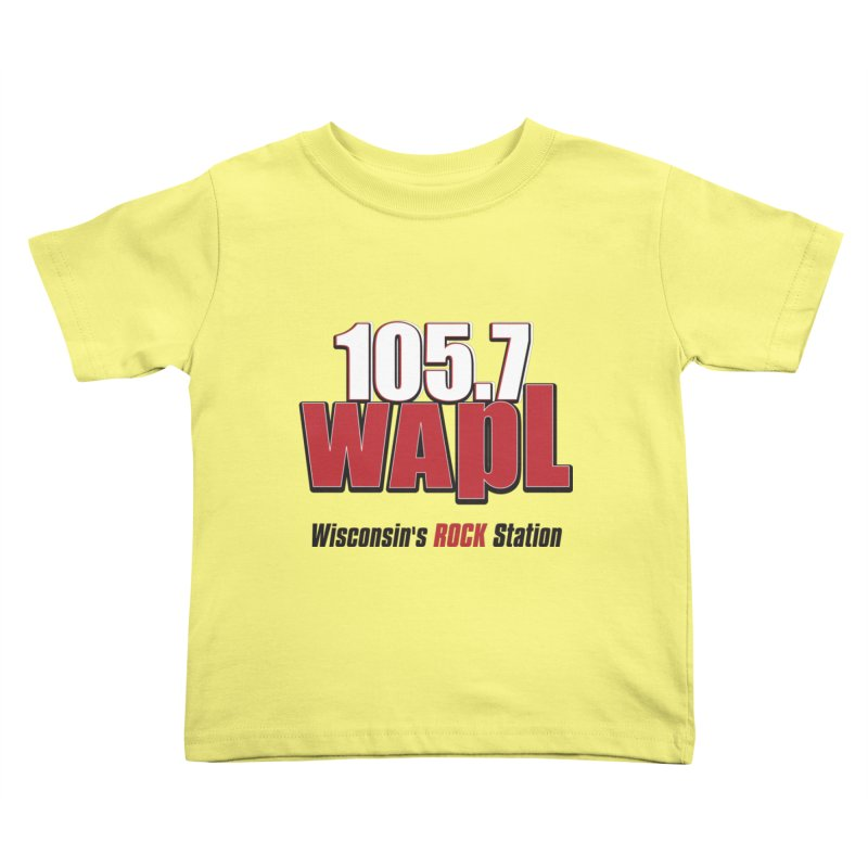 WAPL Stacked Logo (black lettering) Kids Toddler T-Shirt by 105.7 WAPL Web Store