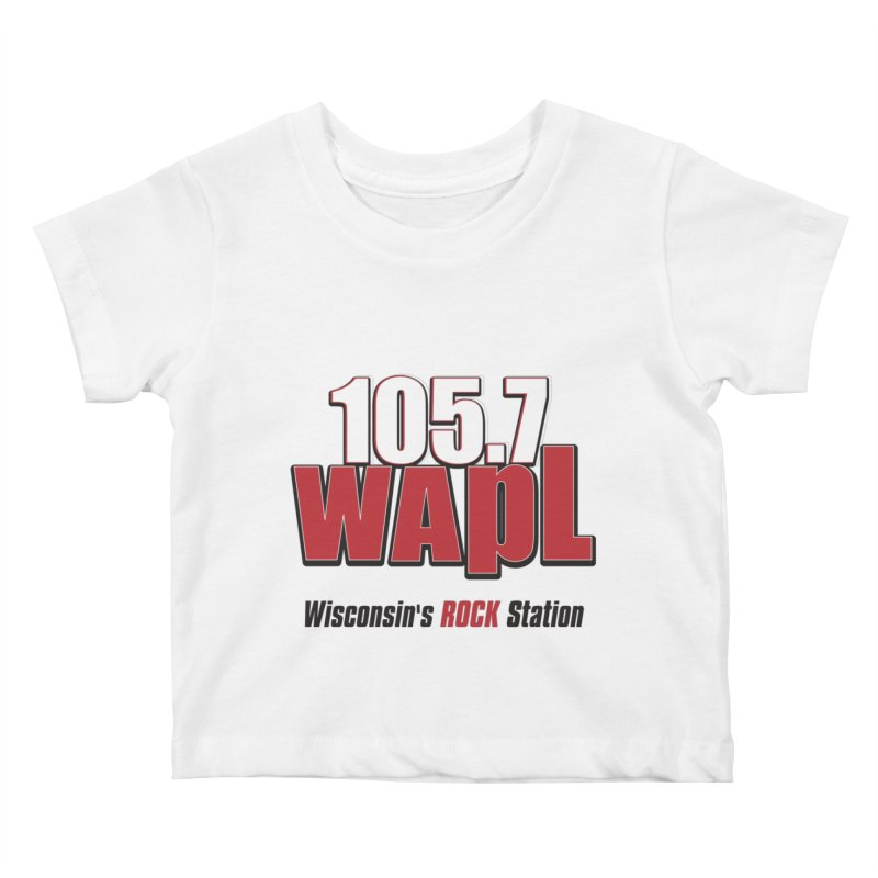 WAPL Stacked Logo (black lettering) Kids Baby T-Shirt by 105.7 WAPL Web Store