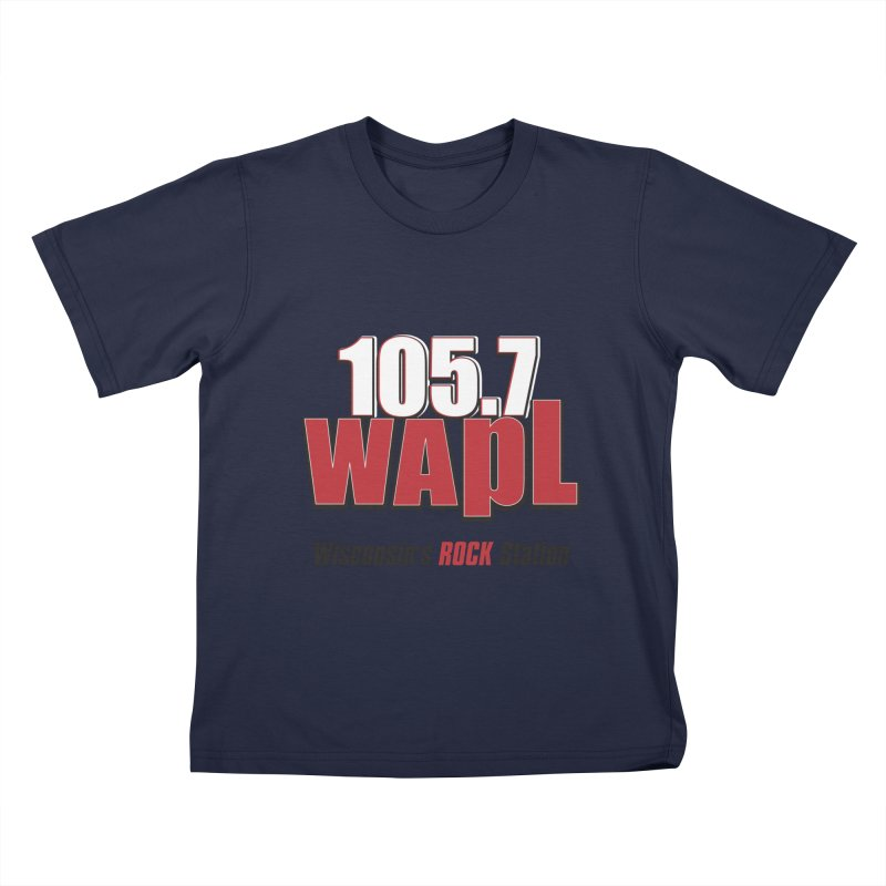 WAPL Stacked Logo (black lettering) Kids T-Shirt by 105.7 WAPL Web Store