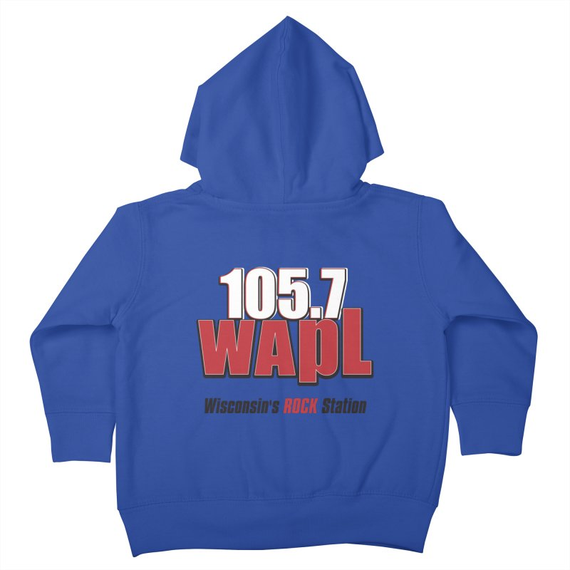 WAPL Stacked Logo (black lettering) Kids Toddler Zip-Up Hoody by 105.7 WAPL Web Store