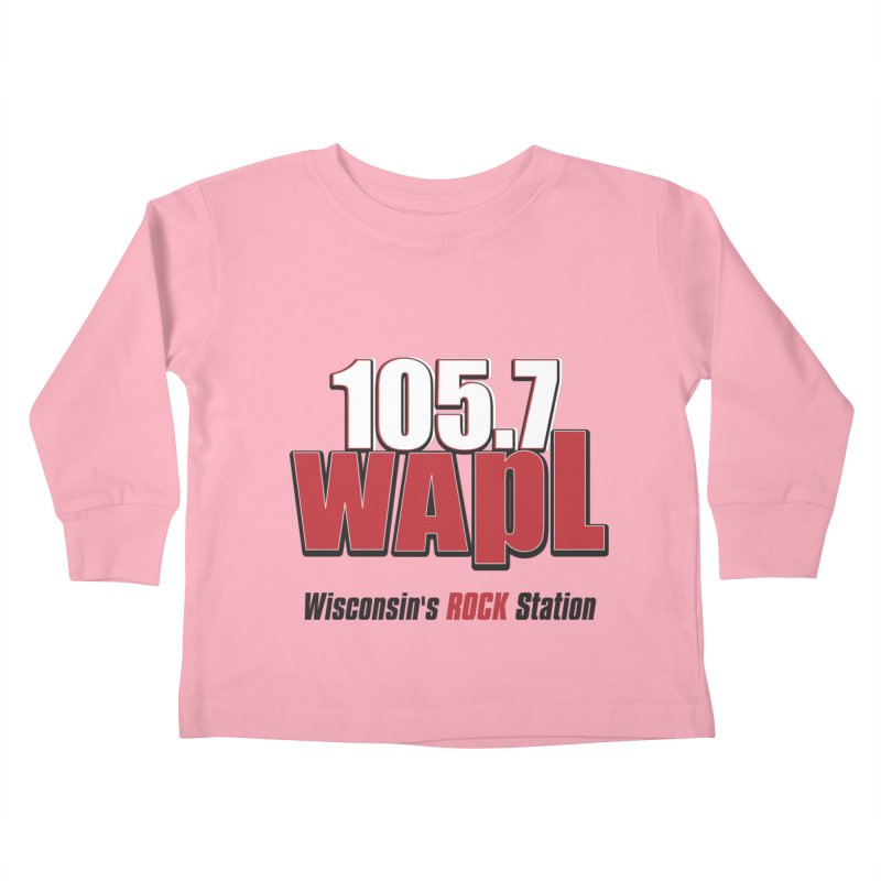 WAPL Stacked Logo (black lettering) Kids Toddler Longsleeve T-Shirt by 105.7 WAPL Store