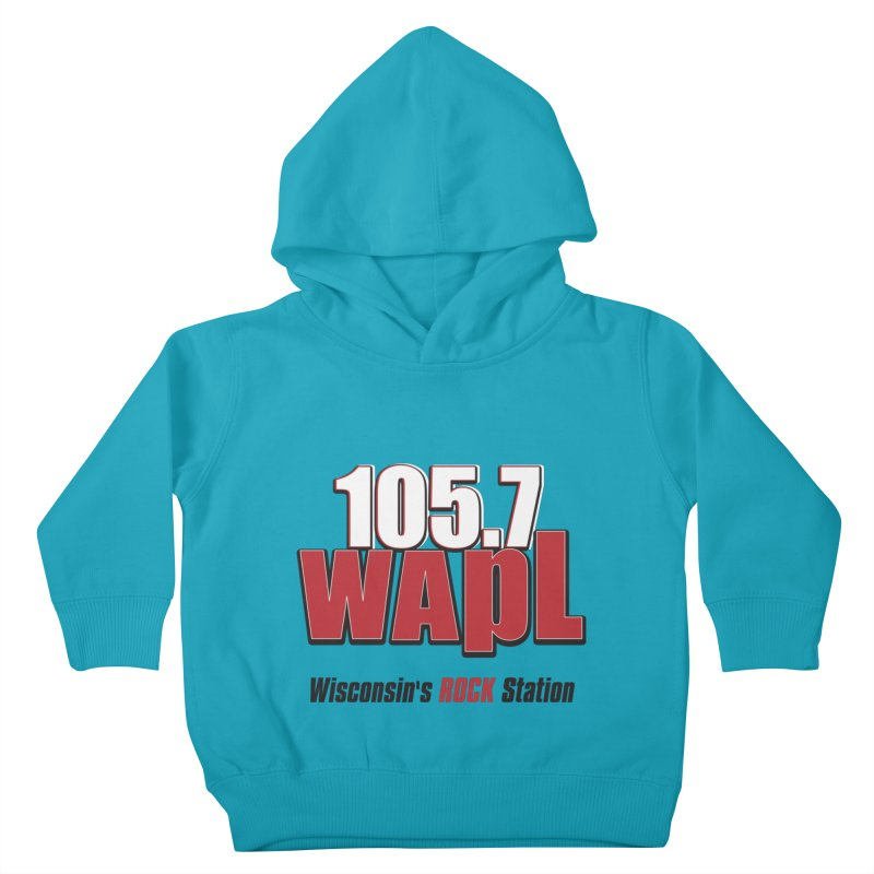 WAPL Stacked Logo (black lettering) Kids Toddler Pullover Hoody by 105.7 WAPL Web Store