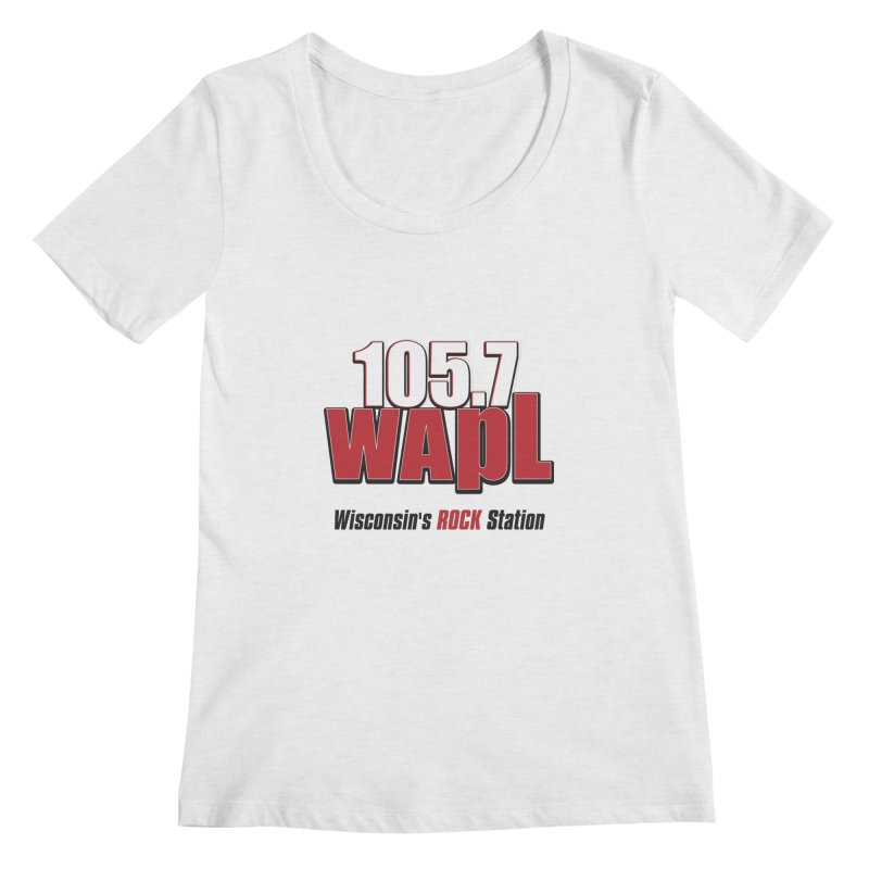 WAPL Stacked Logo (black lettering) Women's Regular Scoop Neck by 105.7 WAPL Web Store