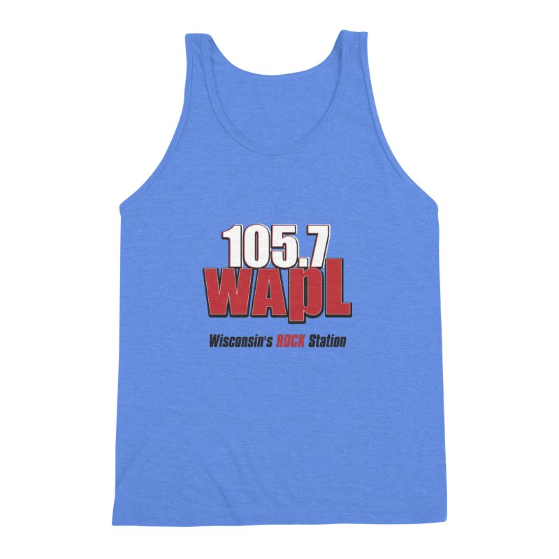 WAPL Stacked Logo (black lettering) Men's Triblend Tank by 105.7 WAPL Web Store