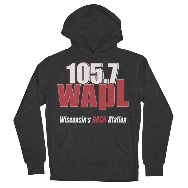 WAPL Stacked Logo (white lettering) Women's French Terry Pullover Hoody by 105.7 WAPL Web Store