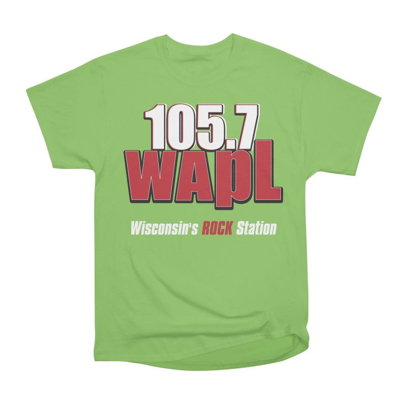 WAPL Stacked Logo (white lettering) Men's Heavyweight T-Shirt by 105.7 WAPL Web Store