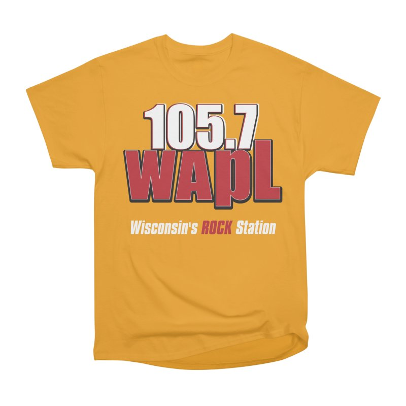 WAPL Stacked Logo (white lettering) Women's Heavyweight Unisex T-Shirt by 105.7 WAPL Web Store