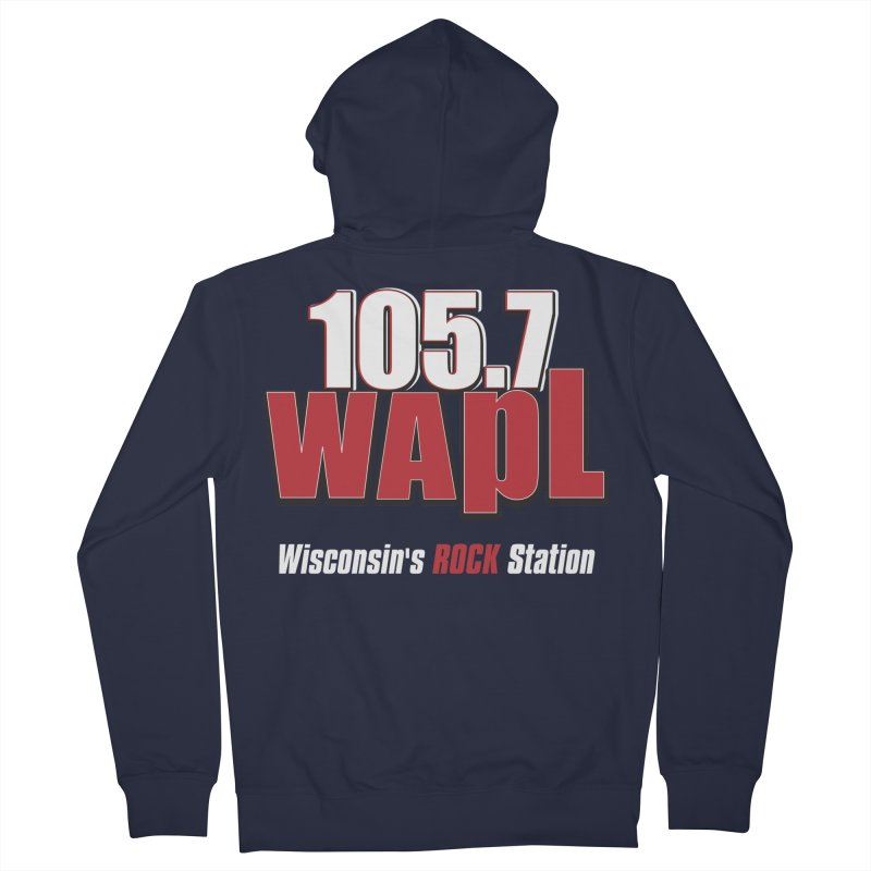 WAPL Stacked Logo (white lettering) Women's French Terry Zip-Up Hoody by 105.7 WAPL Web Store