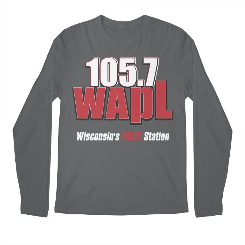 WAPL Stacked Logo (white lettering) Men's Regular Longsleeve T-Shirt by 105.7 WAPL Web Store