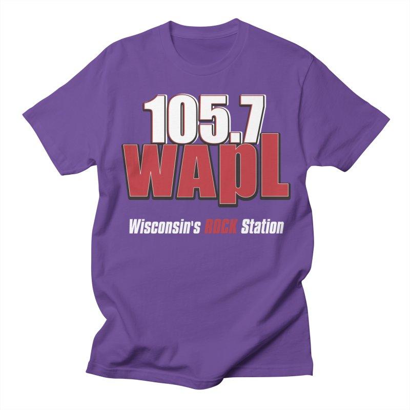 WAPL Stacked Logo (white lettering) Women's Regular Unisex T-Shirt by 105.7 WAPL Web Store