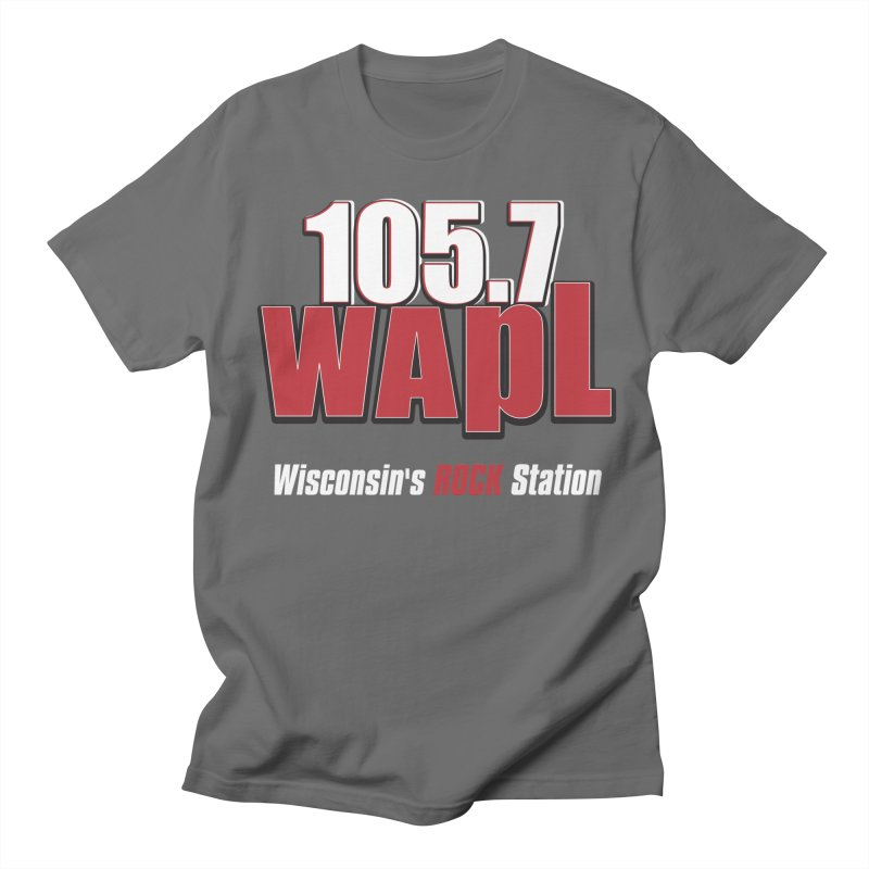 WAPL Stacked Logo (white lettering) Men's T-Shirt by 105.7 WAPL Store