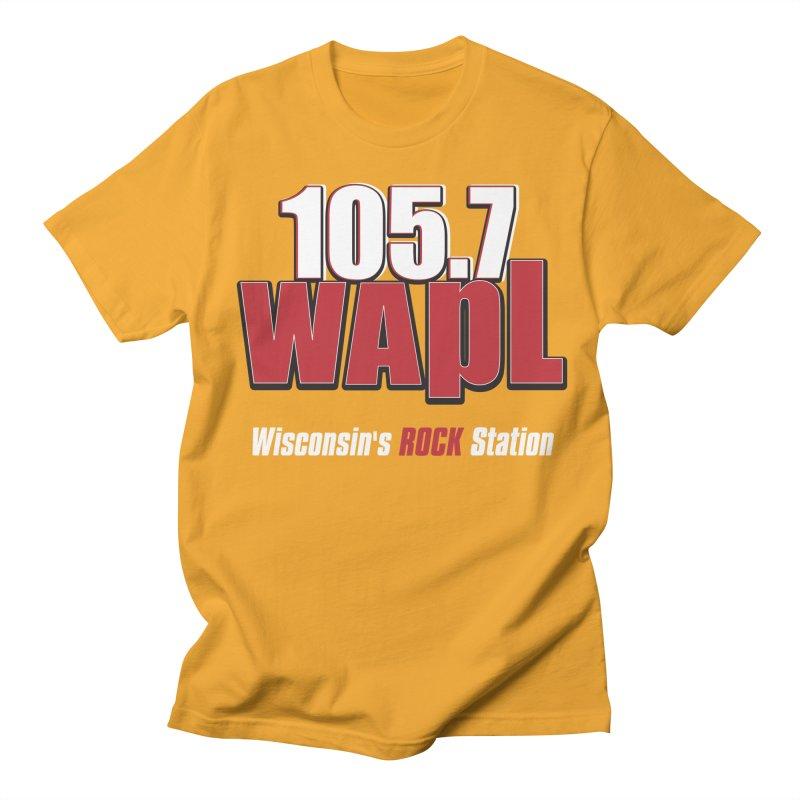 WAPL Stacked Logo (white lettering) Men's Regular T-Shirt by 105.7 WAPL Web Store
