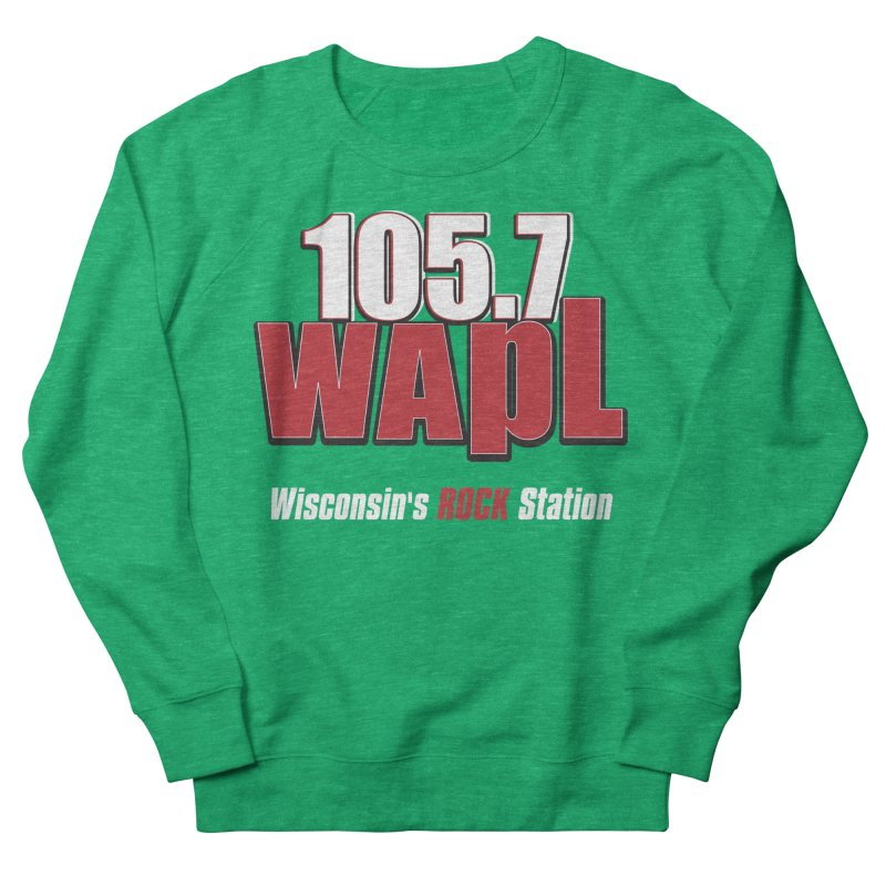 WAPL Stacked Logo (white lettering) Men's French Terry Sweatshirt by 105.7 WAPL Web Store