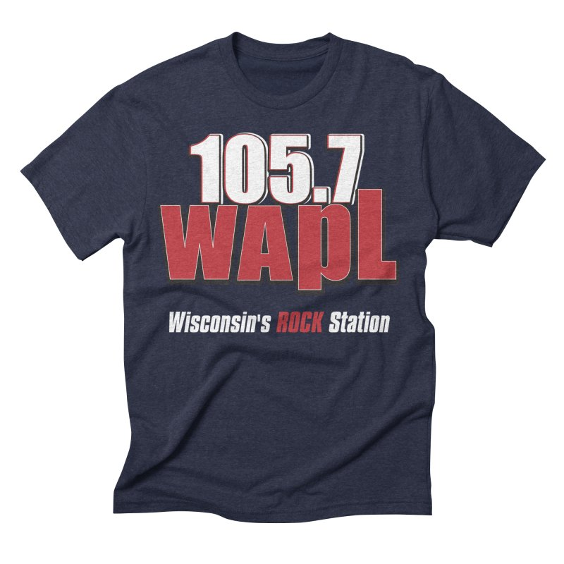 WAPL Stacked Logo (white lettering) Men's Triblend T-Shirt by 105.7 WAPL Web Store