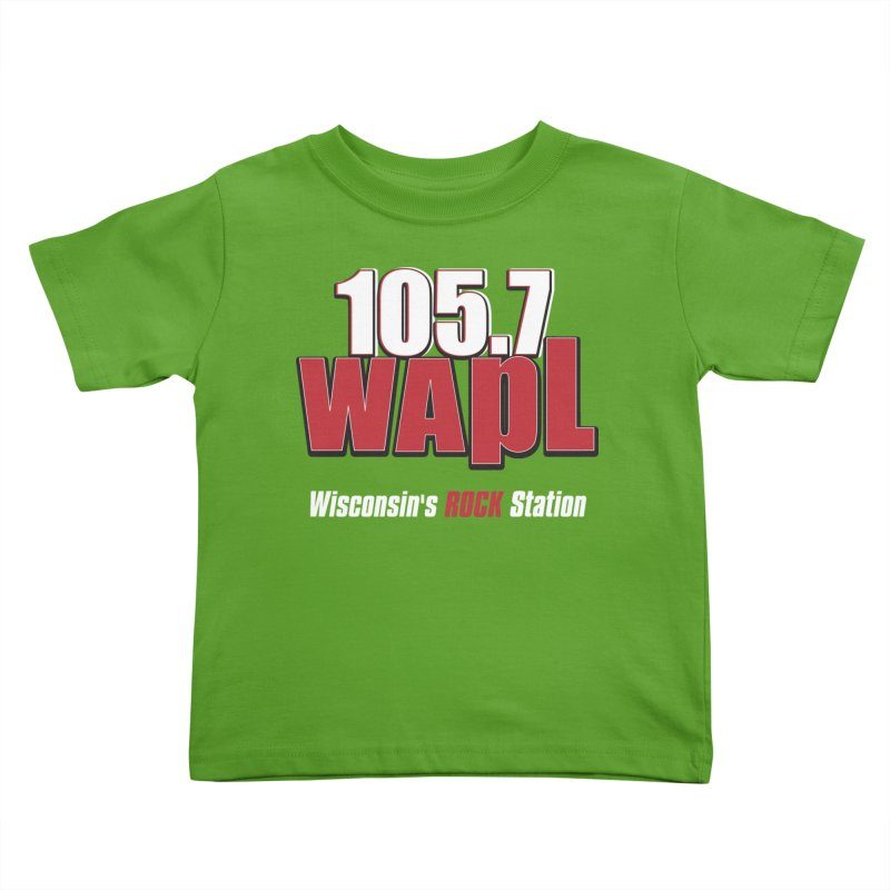 WAPL Stacked Logo (white lettering) Kids Toddler T-Shirt by 105.7 WAPL Store