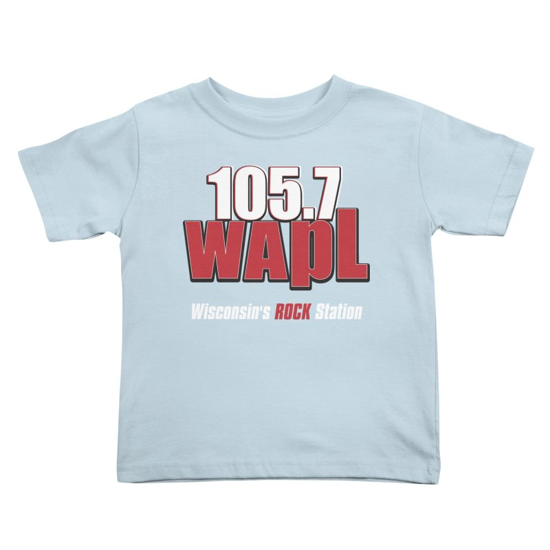 WAPL Stacked Logo (white lettering) Kids Toddler T-Shirt by 105.7 WAPL Web Store
