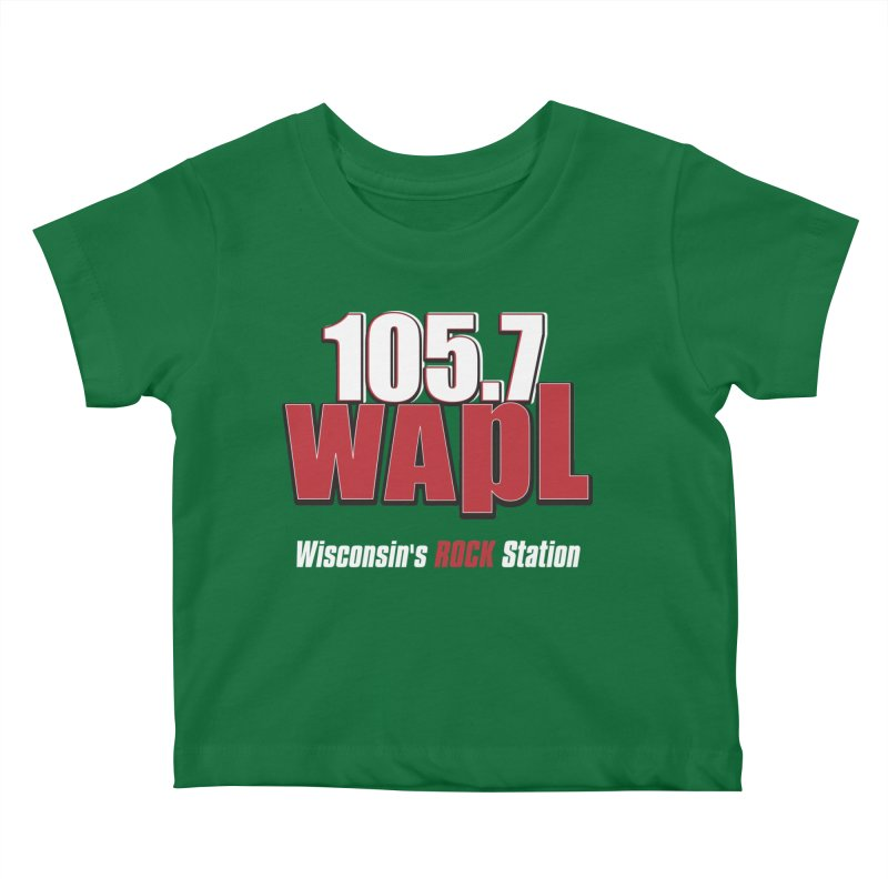 WAPL Stacked Logo (white lettering) Kids Baby T-Shirt by 105.7 WAPL Store