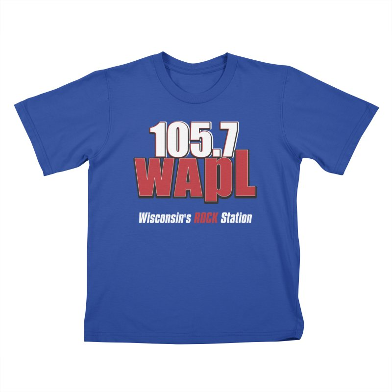 WAPL Stacked Logo (white lettering) Kids T-Shirt by 105.7 WAPL Web Store