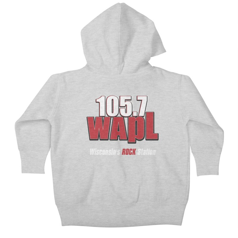 WAPL Stacked Logo (white lettering) Kids Baby Zip-Up Hoody by 105.7 WAPL Web Store