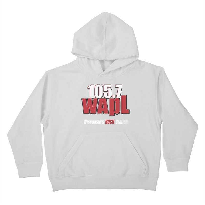 WAPL Stacked Logo (white lettering) Kids Pullover Hoody by 105.7 WAPL Web Store