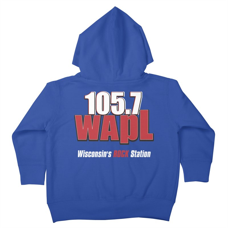 WAPL Stacked Logo (white lettering) Kids Toddler Zip-Up Hoody by 105.7 WAPL Web Store