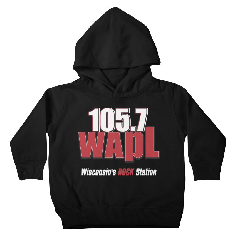WAPL Stacked Logo (white lettering) Kids Toddler Pullover Hoody by 105.7 WAPL Web Store