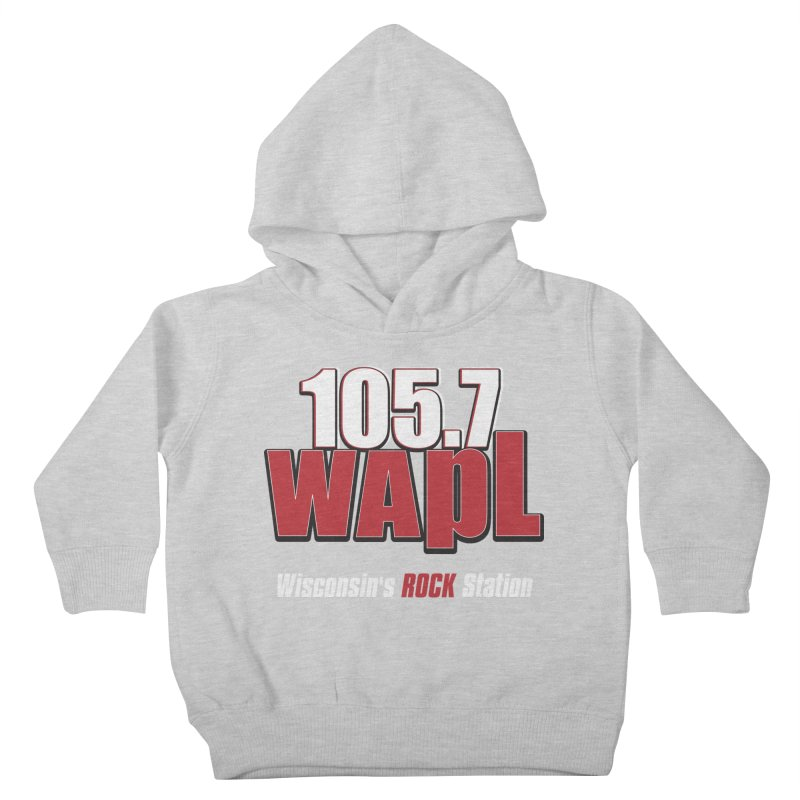 WAPL Stacked Logo (white lettering) Kids Toddler Pullover Hoody by 105.7 WAPL Store