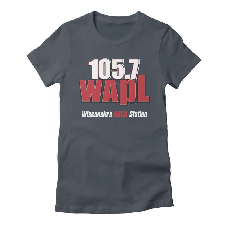 WAPL Stacked Logo (white lettering) Women's T-Shirt by 105.7 WAPL Store