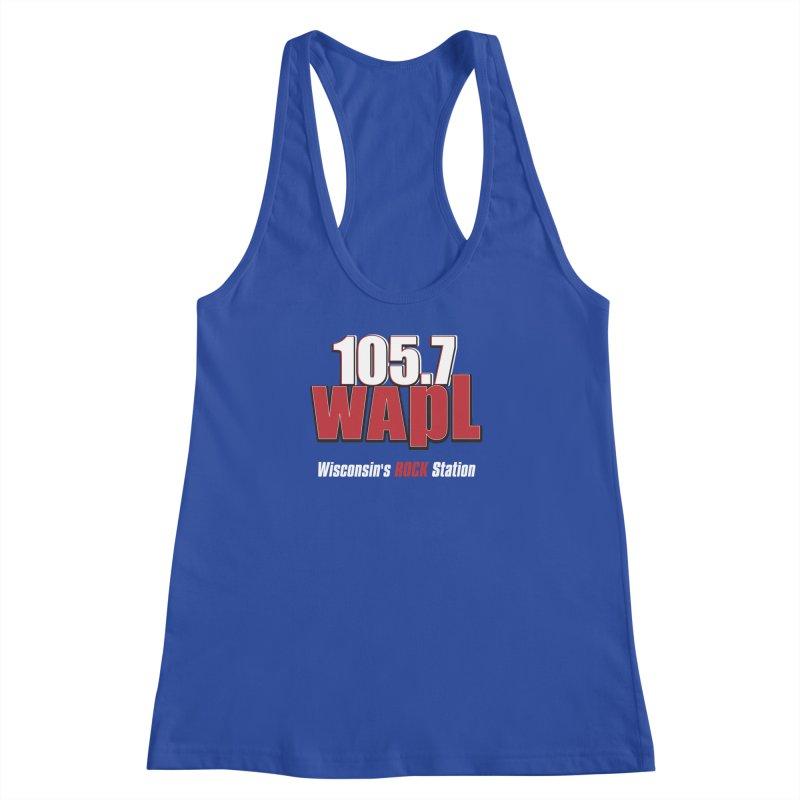 WAPL Stacked Logo (white lettering) Women's Racerback Tank by 105.7 WAPL Web Store