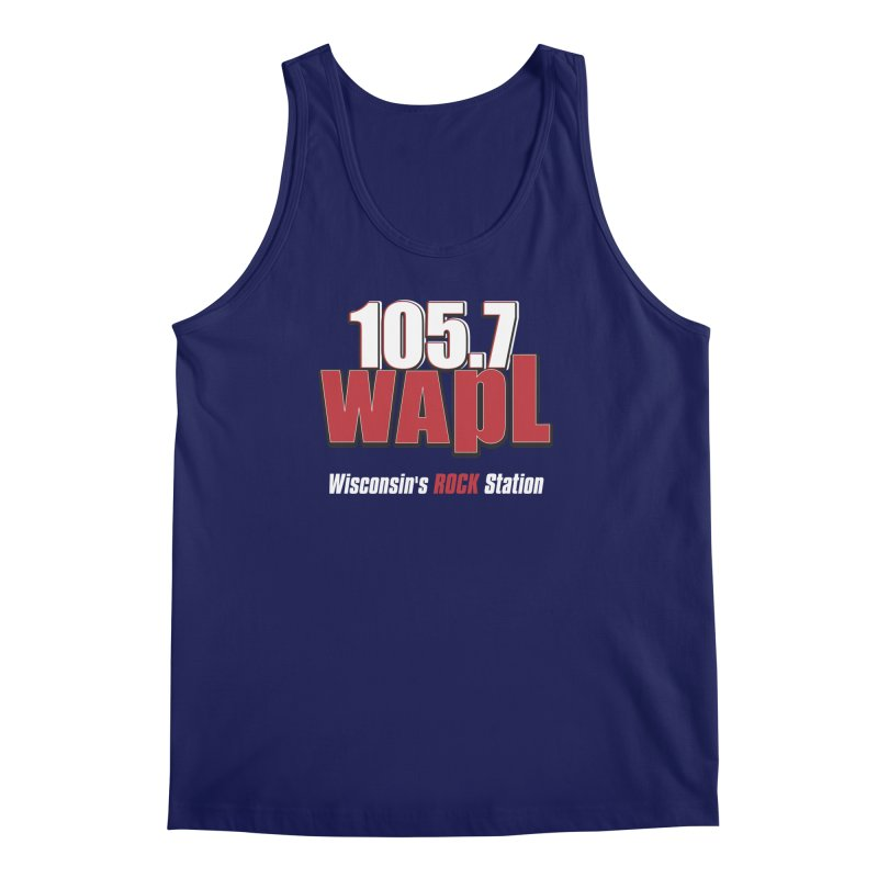 WAPL Stacked Logo (white lettering) Men's Regular Tank by 105.7 WAPL Web Store