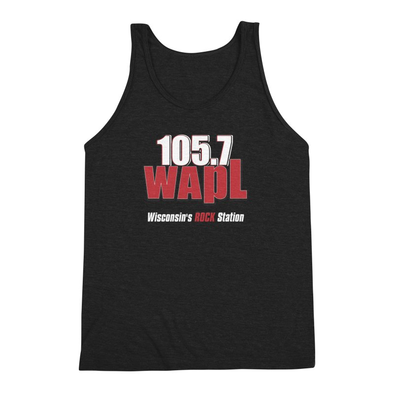 WAPL Stacked Logo (white lettering) Men's Triblend Tank by 105.7 WAPL Web Store