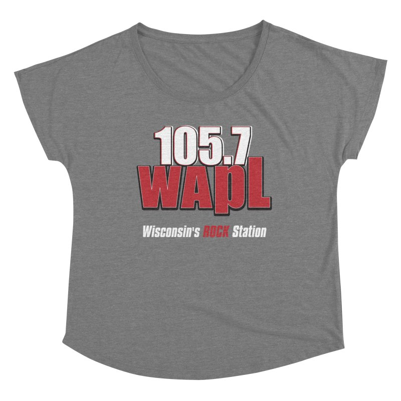 WAPL Stacked Logo (white lettering) Women's Scoop Neck by 105.7 WAPL Store