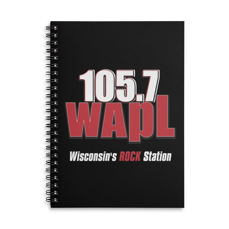 WAPL Stacked Logo (white lettering) Accessories Lined Spiral Notebook by 105.7 WAPL Web Store
