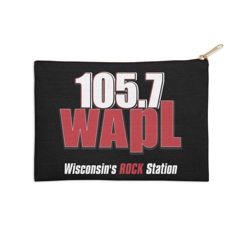 WAPL Stacked Logo (white lettering) Accessories Zip Pouch by 105.7 WAPL Web Store