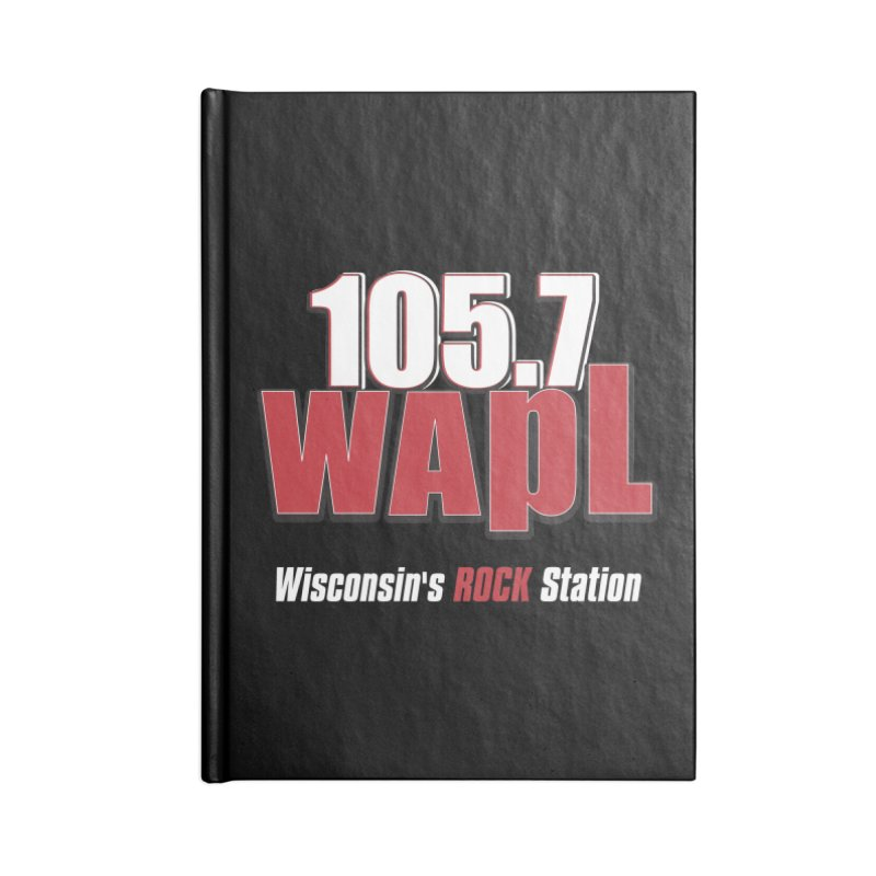 WAPL Stacked Logo (white lettering) Accessories Notebook by 105.7 WAPL Store