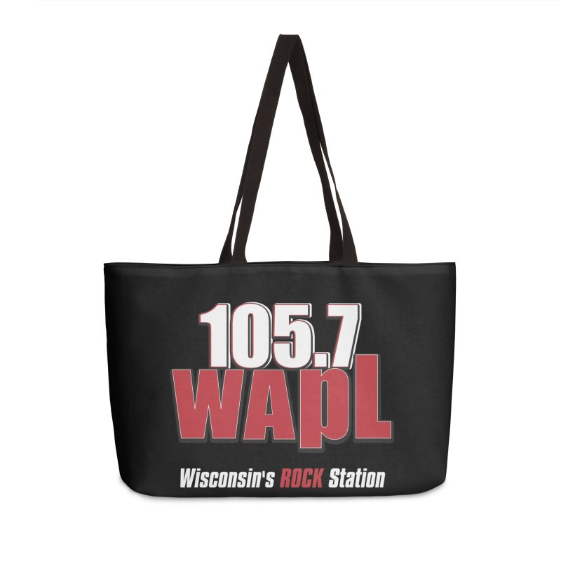 WAPL Stacked Logo (white lettering) Accessories Weekender Bag Bag by 105.7 WAPL Web Store