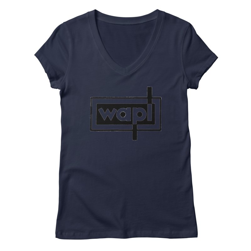 WAPL-AM circa the 50s Women's V-Neck by 105.7 WAPL Store