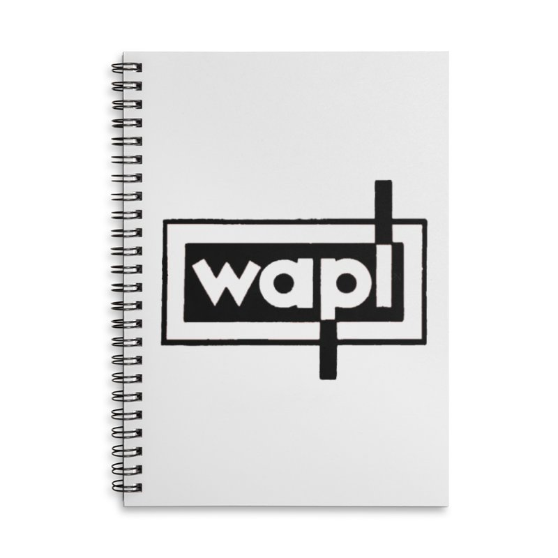 WAPL-AM circa the 50s Accessories Lined Spiral Notebook by 105.7 WAPL Web Store