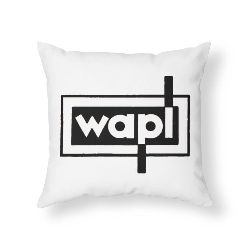WAPL-AM circa the 50s Home Throw Pillow by 105.7 WAPL Web Store
