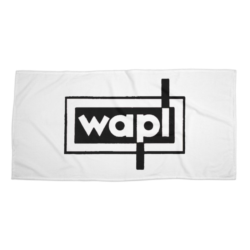 WAPL-AM circa the 50s Accessories Beach Towel by 105.7 WAPL Web Store
