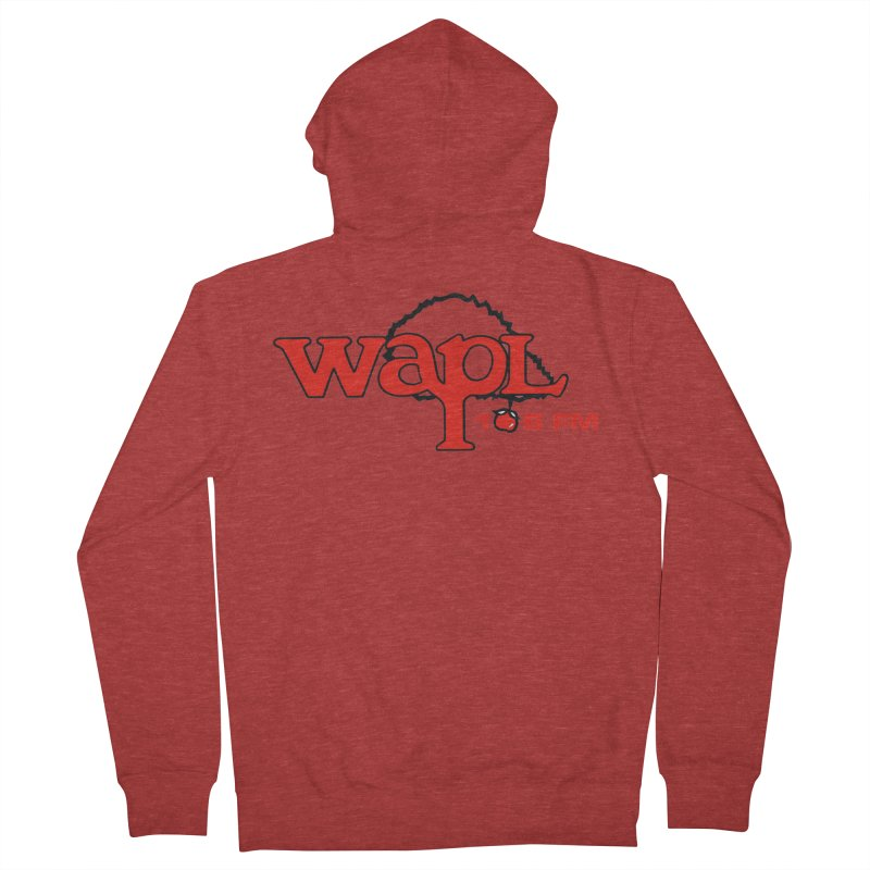 WAPL 80s 'Apple Tree' - Version 2 Women's French Terry Zip-Up Hoody by 105.7 WAPL Web Store