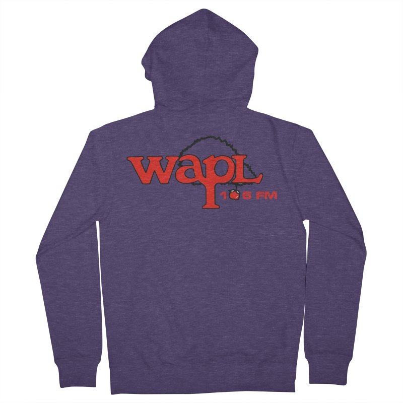 WAPL 80s 'Apple Tree' - Version 2 Men's French Terry Zip-Up Hoody by 105.7 WAPL Web Store