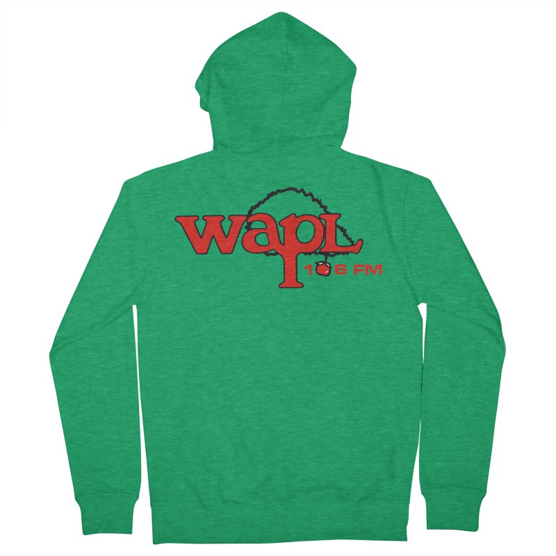 WAPL 80s 'Apple Tree' - Version 2 Men's Zip-Up Hoody by 105.7 WAPL Store