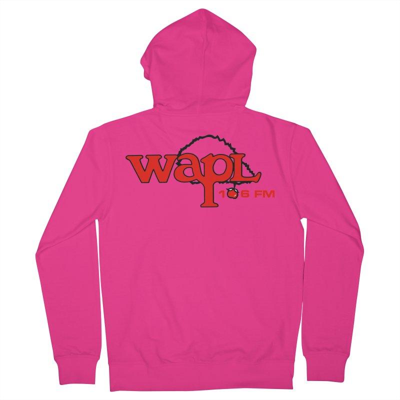 WAPL 80s 'Apple Tree' - Version 2 Men's French Terry Zip-Up Hoody by 105.7 WAPL Web Store