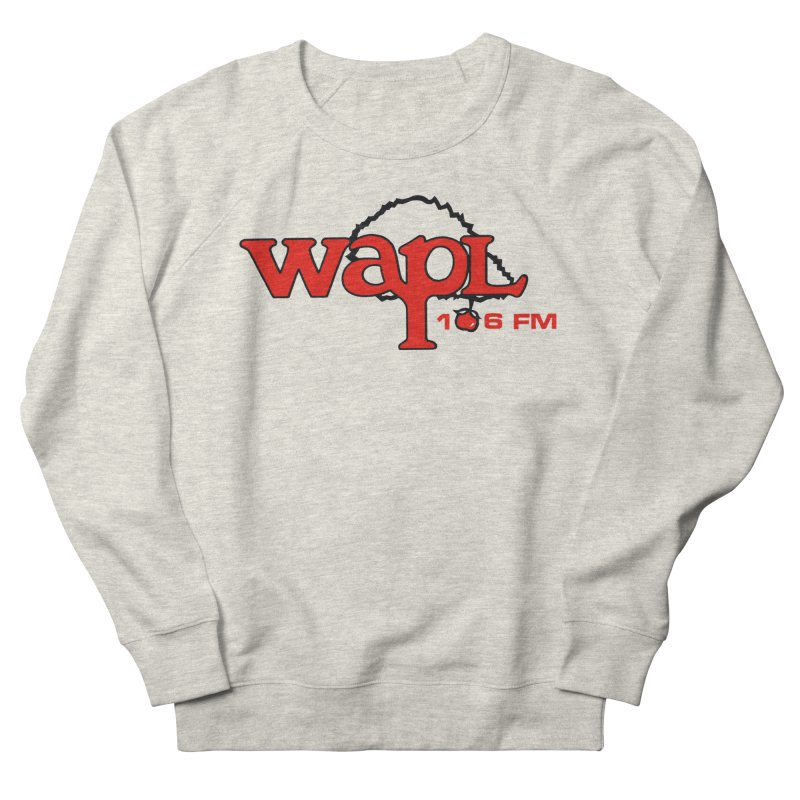 WAPL 80s 'Apple Tree' - Version 2 Men's French Terry Sweatshirt by 105.7 WAPL Web Store