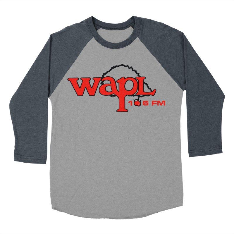 WAPL 80s 'Apple Tree' - Version 2 Men's Baseball Triblend Longsleeve T-Shirt by 105.7 WAPL Web Store