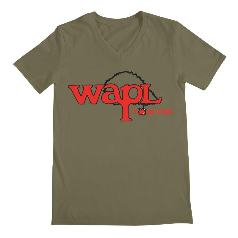 WAPL 80s 'Apple Tree' - Version 2 Men's Regular V-Neck by 105.7 WAPL Web Store